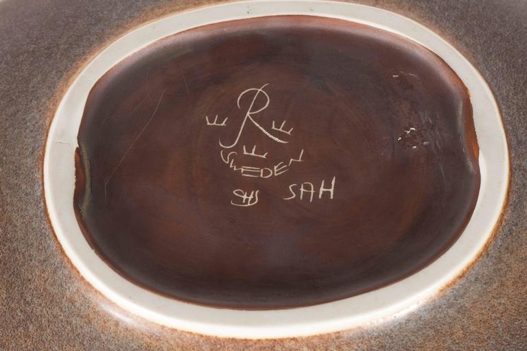 Mid-Century Modernist Ovoid Bowl by Carl-Harry Stålhane for Rörstrand For Sale 3