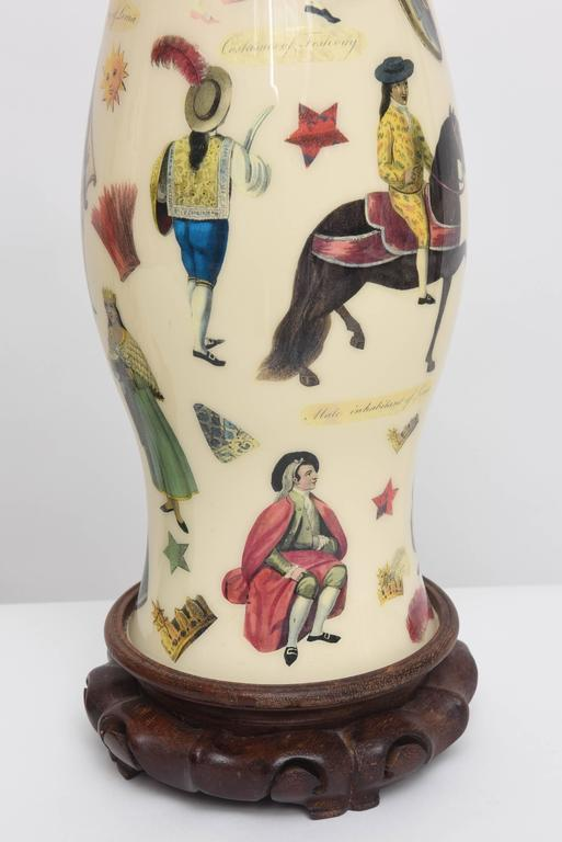 Pair of Whimsical Decoupage Lamps with Spanish Colonial Theme  5