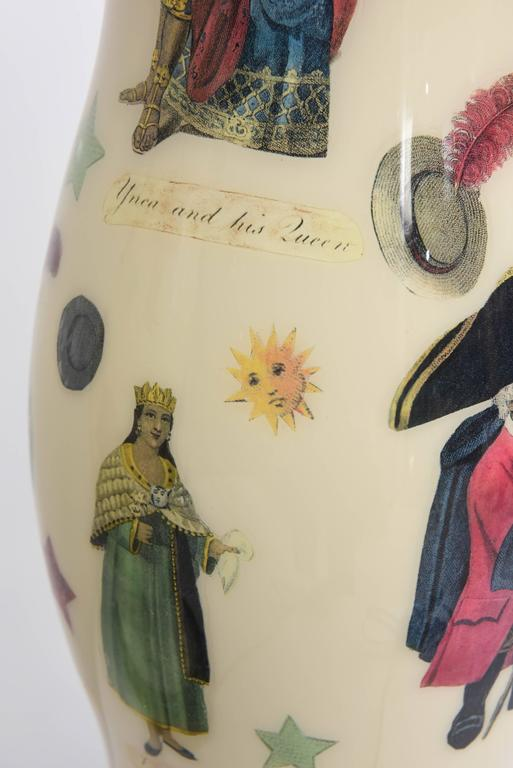Pair of Vintage Decoupage Lamps with Spanish Colonial Theme  10
