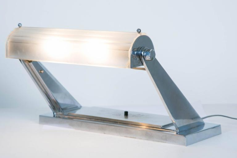 French Art Déco Desk Lamp by Sabino, 1930s For Sale 5