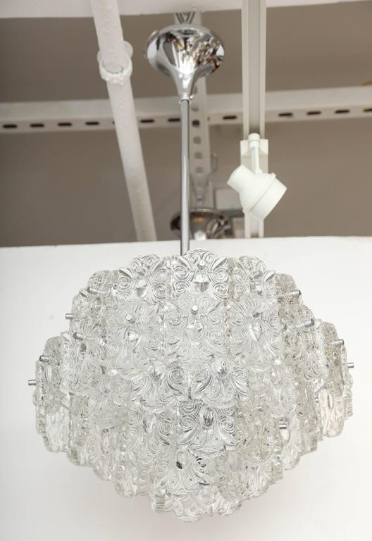Hollywood Regency Mid-Century Five-Tier Crystal Chandelier by Kinkeldey For Sale