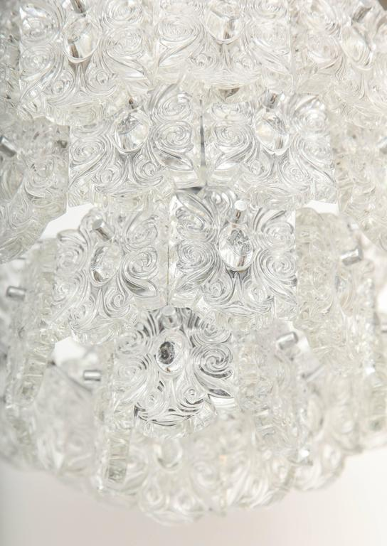 Mid-Century Five-Tier Crystal Chandelier by Kinkeldey In Excellent Condition For Sale In New York, NY