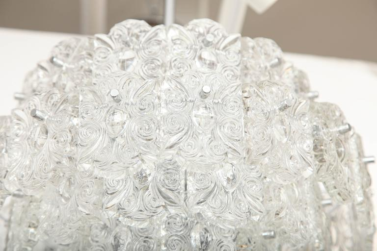 Mid-Century Five-Tier Crystal Chandelier by Kinkeldey For Sale 1