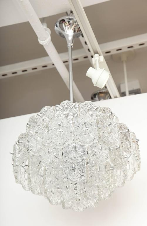 Mid-Century Five-Tier Crystal Chandelier by Kinkeldey For Sale 2