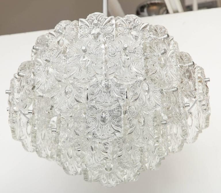 Mid-Century Five-Tier Crystal Chandelier by Kinkeldey For Sale 3