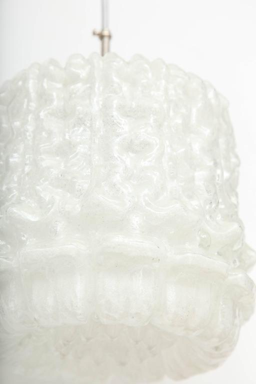 Kaiser Ice Glass Drum Pendant 7