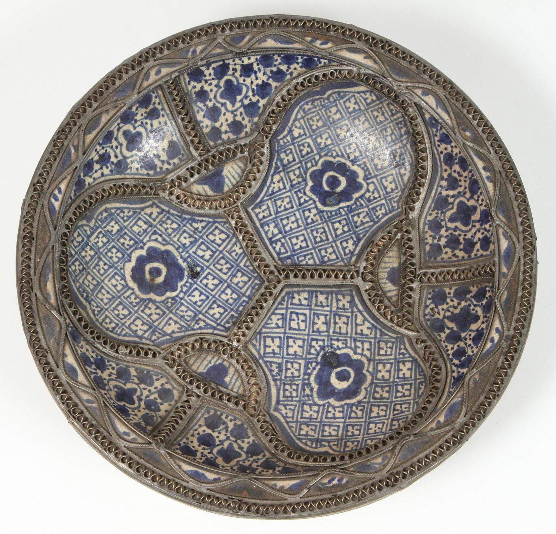 Set Of Four Ceramic Decorative Plates From Fez, Morocco