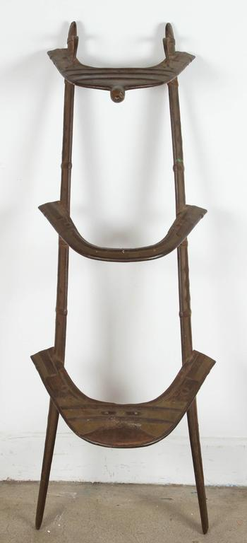 Antique Camel Dromadaire Brass And Iron Saddle For Sale