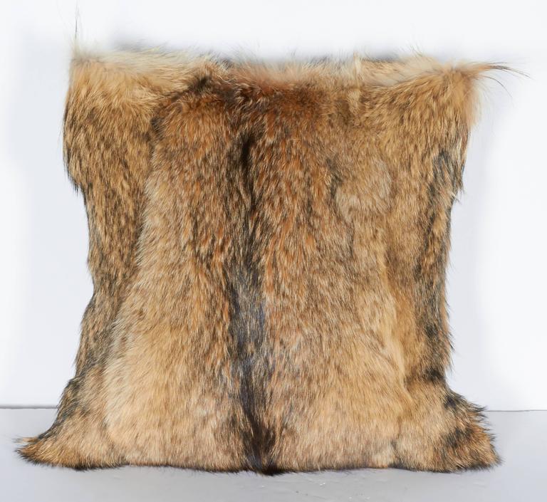 Luxury Coyote Fur Throw Pillows 6