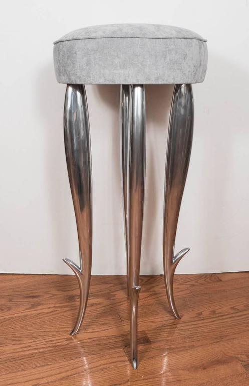 "Cast Aluminum ""Royalton"" Stool In Good Condition For Sale In New York, NY"