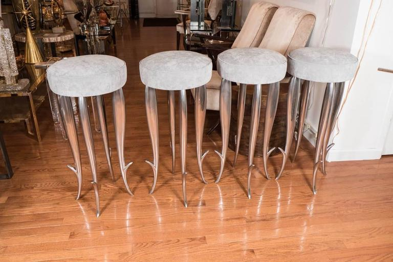 "Cast Aluminum ""Royalton"" Stool For Sale 1"