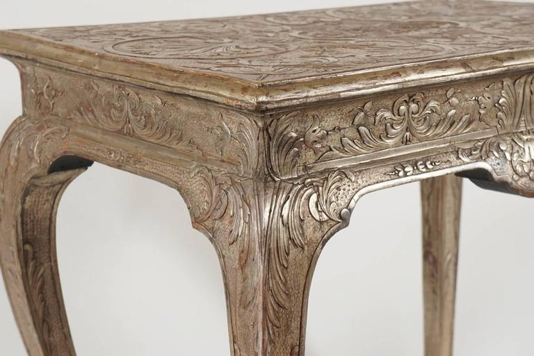 George I Silvered Gesso Table, James Moore, England, circa 1715 In Good Condition In Kinderhook, NY