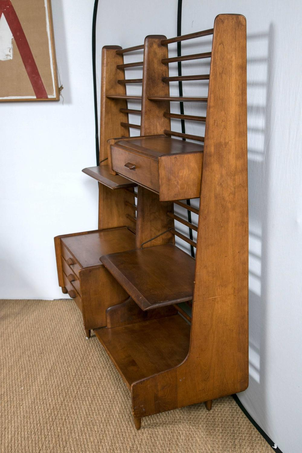 Mid Century Modern Room Divider or Shelving Wall Unit at