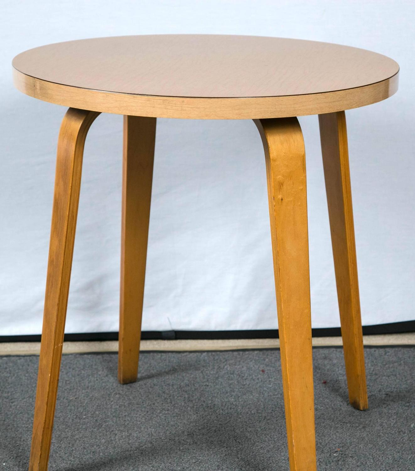Thonet Side Table, Mid-Century Modern at 1stdibs