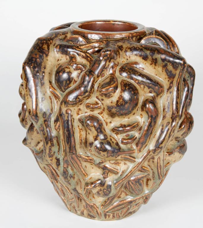 Stoneware 'Summer' Vase, Axel Salto, circa 1950 For Sale