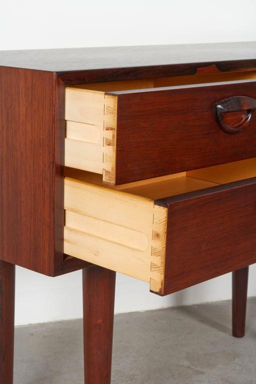 Mid Century Rosewood Side Table by Kai Kristiansen 4