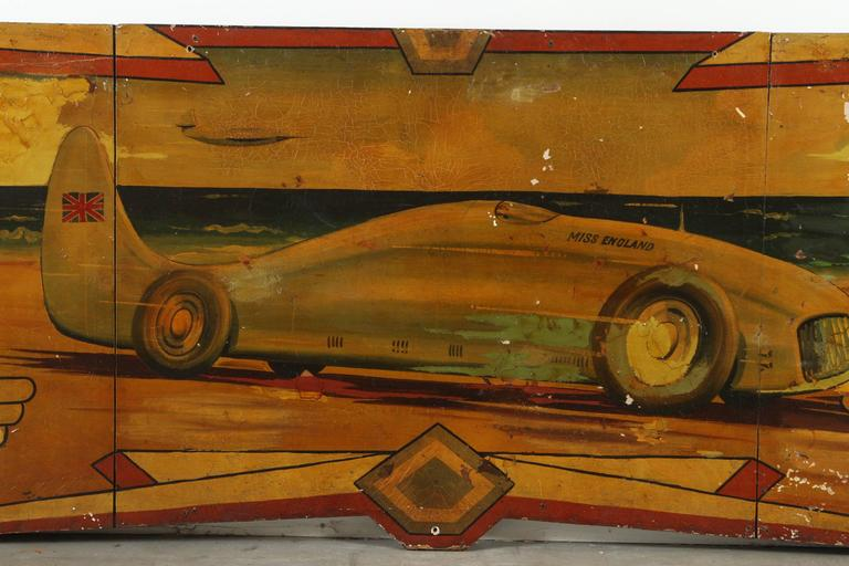 Early Carnival Futuristic Auto Hand-Painted Rounding Board 6