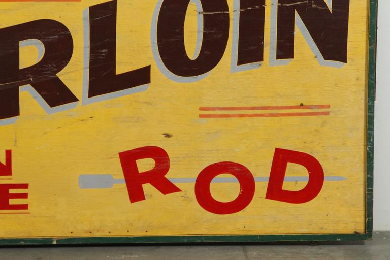 Early 20th Century Wood & Iron Hand-Painted Trade Sign 3