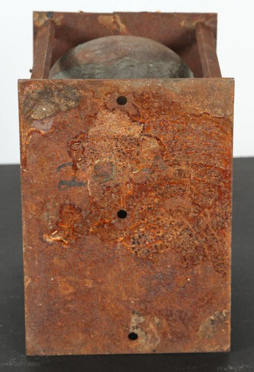 20th Century Vintage Bronx Toy Factory Copper and Iron Doll Mold Head For Sale