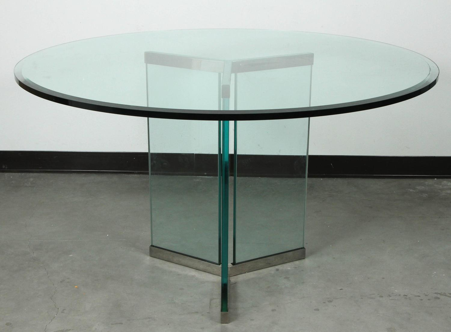 Triangular Base Dining Table by Pace For Sale at 1stdibs : DANM7506z from www.1stdibs.com size 1500 x 1106 jpeg 91kB