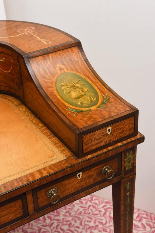 Late 19th Century Fine 19th Century English Adam Style Carlton House Desk For Sale