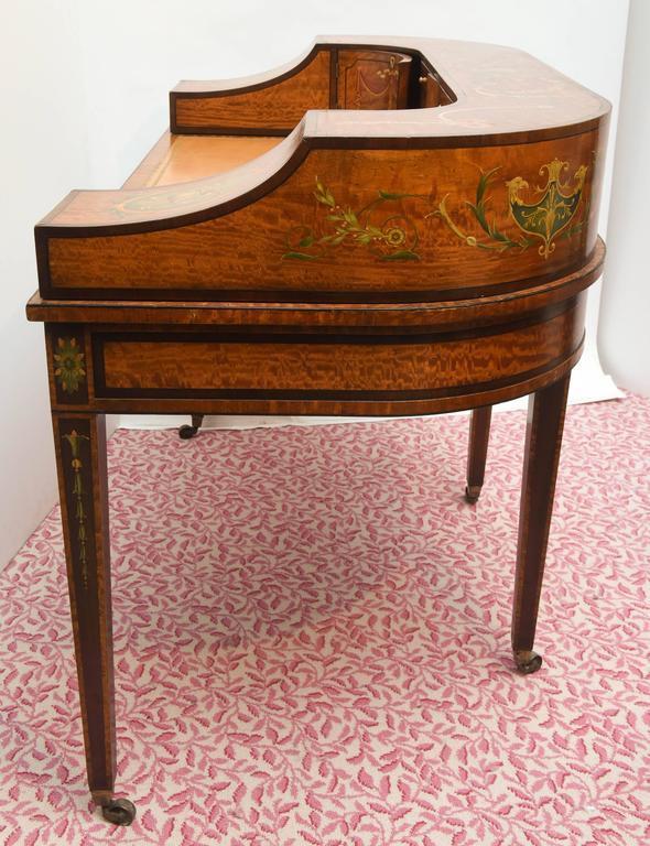 Fine 19th Century English Adam Style Carlton House Desk For Sale 2