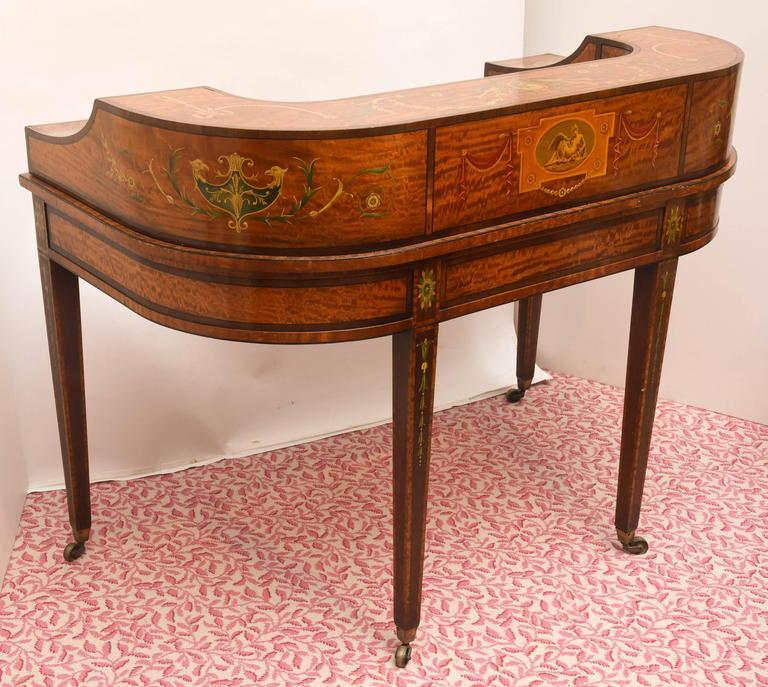Fine 19th Century English Adam Style Carlton House Desk For Sale 4