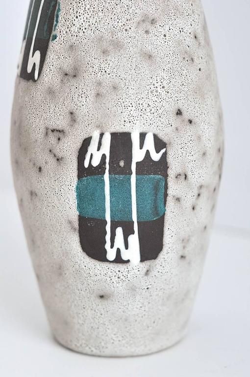 Brutalist 1970s West German Ceramic Vase by Scheurich Keramik Co. For Sale
