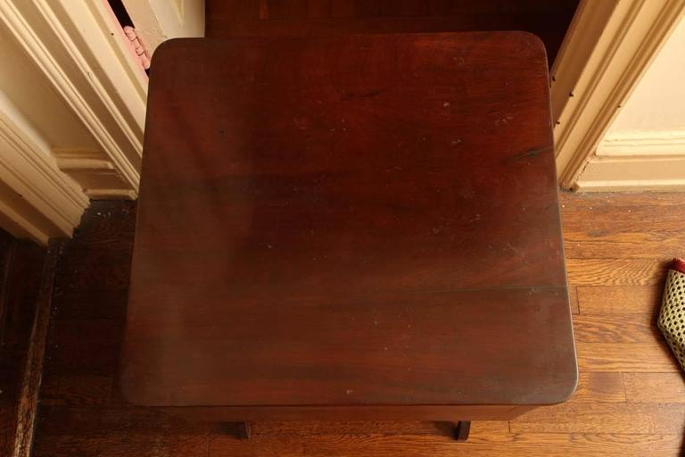 New York Classical Mahogany Lyre-Support Table For Sale 2