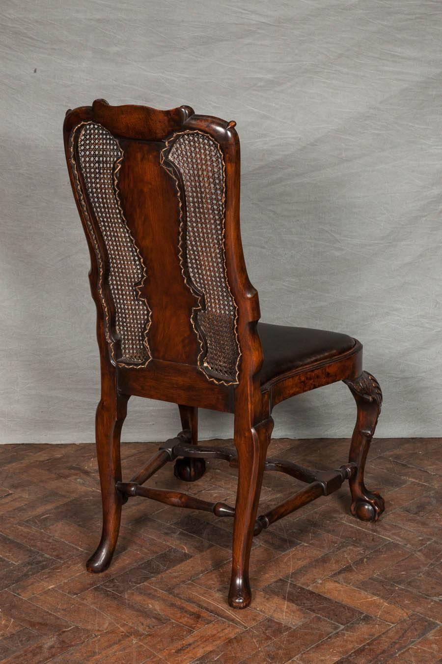 14 queen anne style walnut dining chairs at 1stdibs