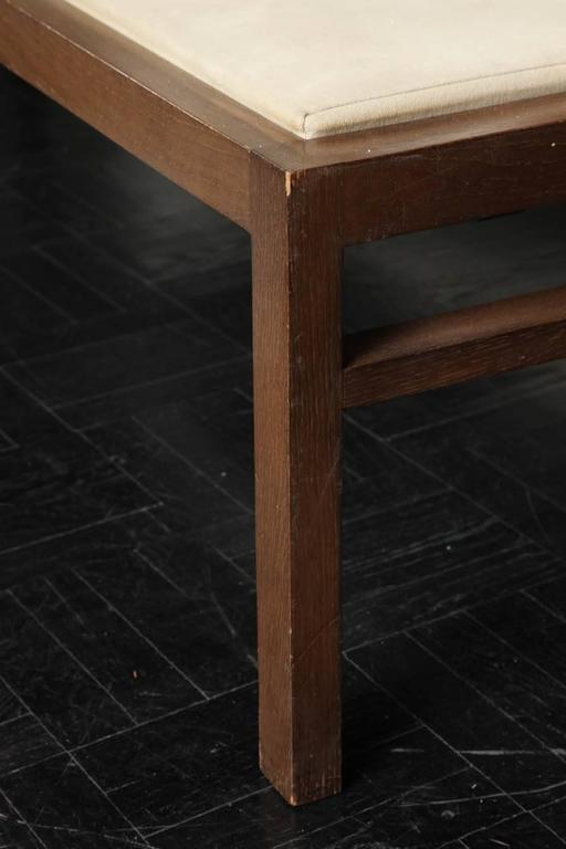 French Pair of 20th Century Stained Oak Long Benches For Sale
