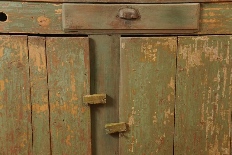 Original Green Painted Store Counter In Good Condition For Sale In Sheffield, MA