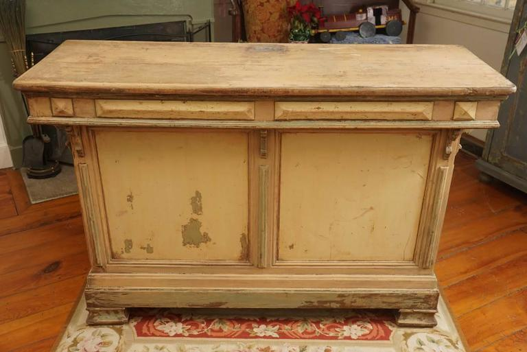 Original Green Painted Store Counter For Sale 2