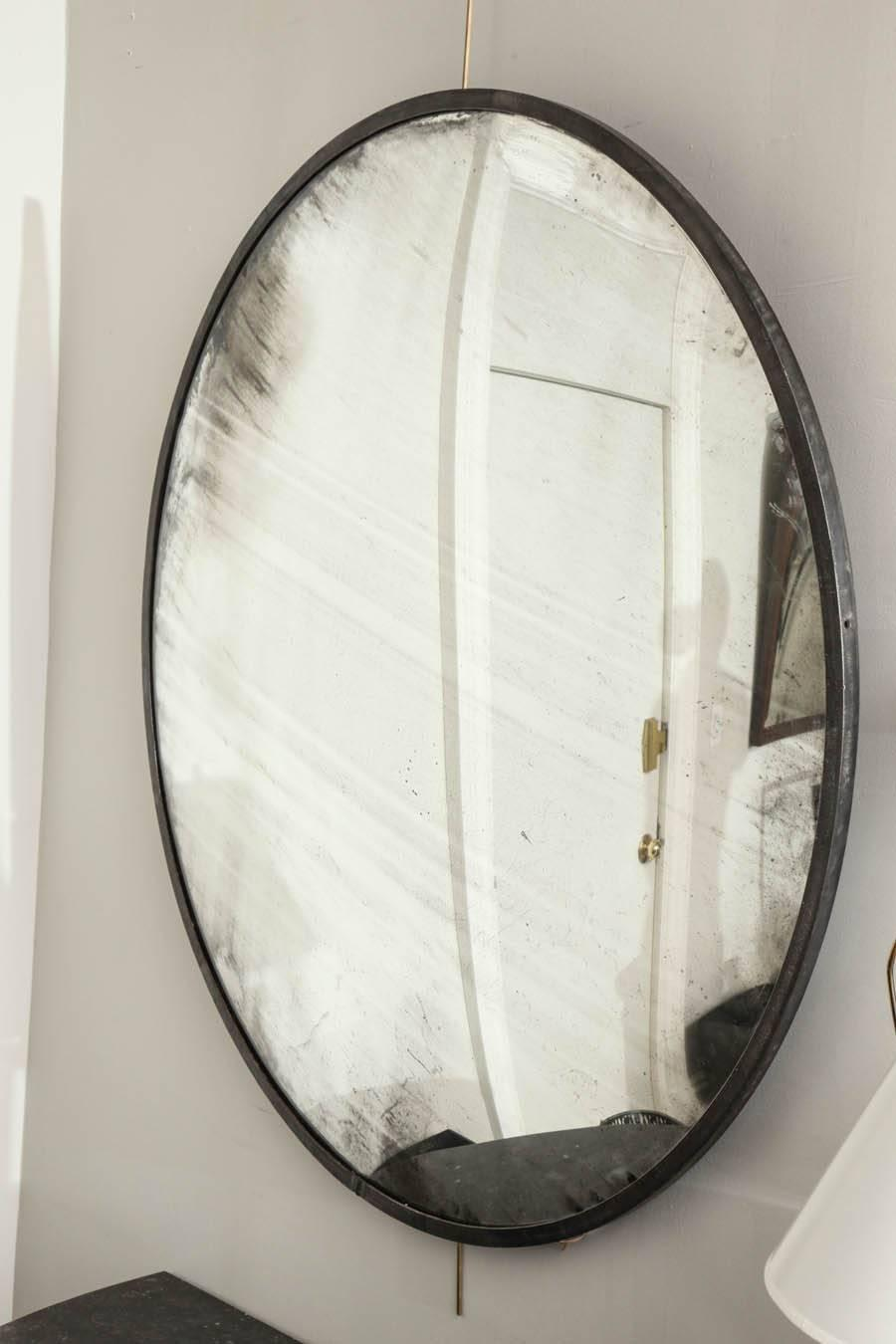 19th century round convex mirror at 1stdibs for Convex mirror