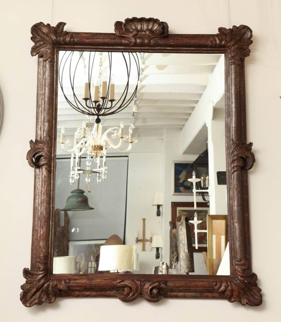 17th century italian carved silver giltwood wall mirror for 17th century mirrors