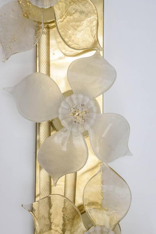 Decorative Glass Wall Sconces : Decorative Pair of Murano Glass Sconces at 1stdibs
