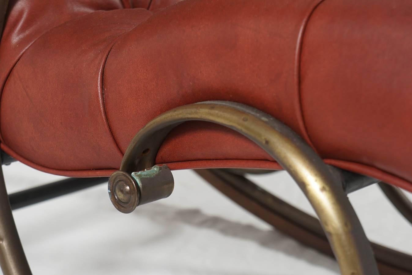 Mid Century Lee Woodard Rocker Rocking Chair At 1stdibs. Full resolution  pic, nominally Width 1347 Height 900 pixels, pic with #853B2F.