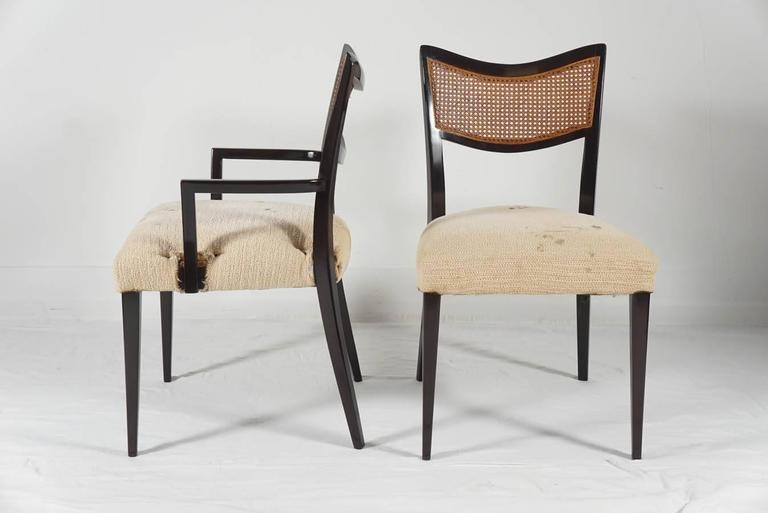20th Century Harvey Probber Dining Suite, Table, Two Leaves and Six Chairs For Sale