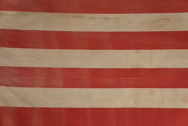 Early American 48 Star Flag Very Large At 1stdibs