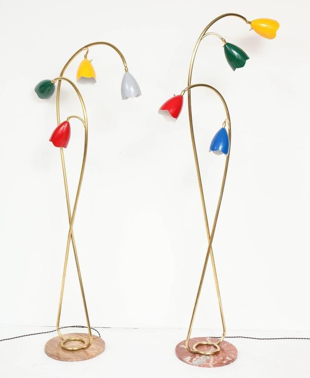 Pair of 1950s Italian Floor Lamps Attributed to Arredoluce 2