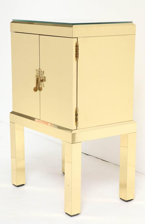 Brass Clad Cabinet For Sale 1