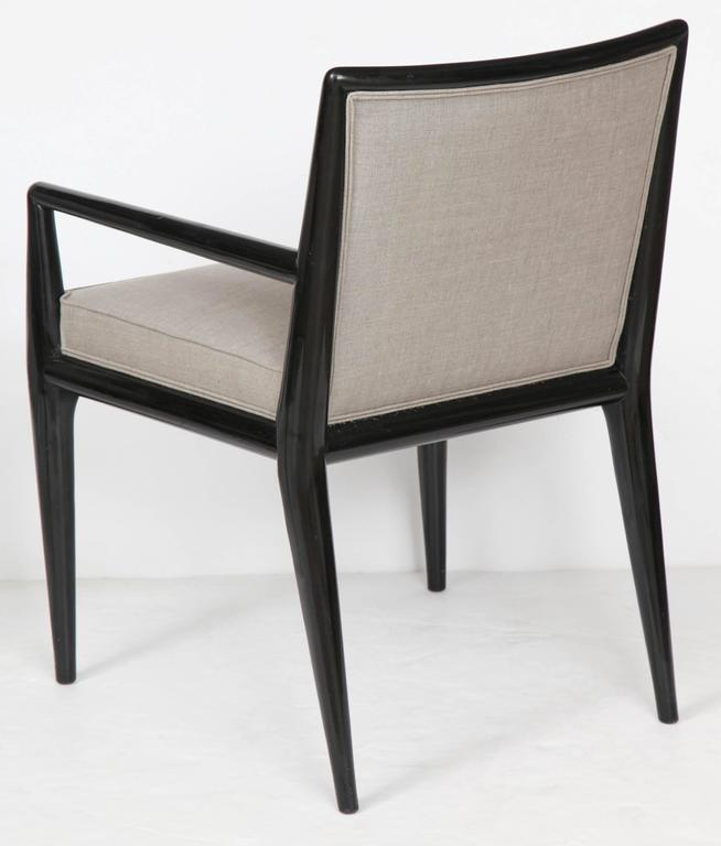 Black Lacquer Dining Room Chairs: Six Black Lacquer Dining Chairs By Robsjohn-Gibbings At