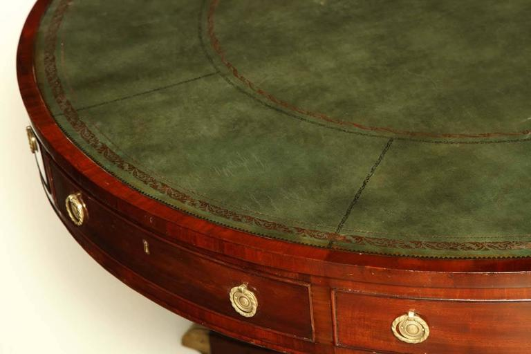 English Regency Mahogany Drum Table For Sale