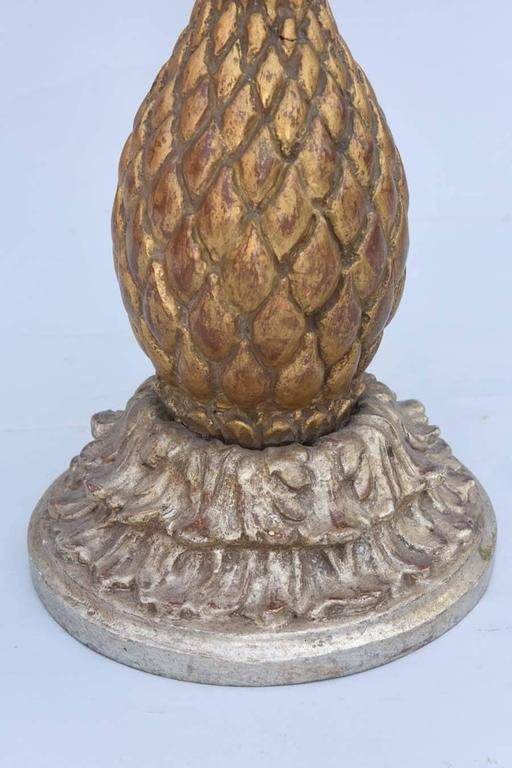 Italian Pineapple Form Accent Table With Capiz Shell Top