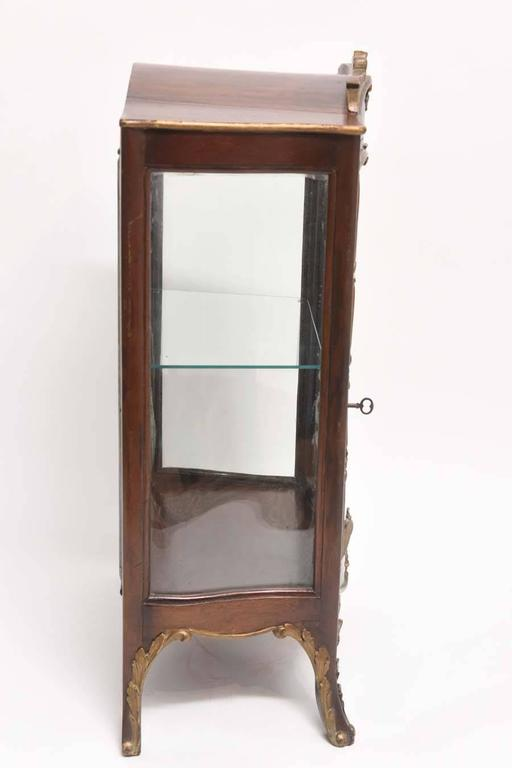Antique French Wood and Gilt Curio Cabinet at 1stdibs