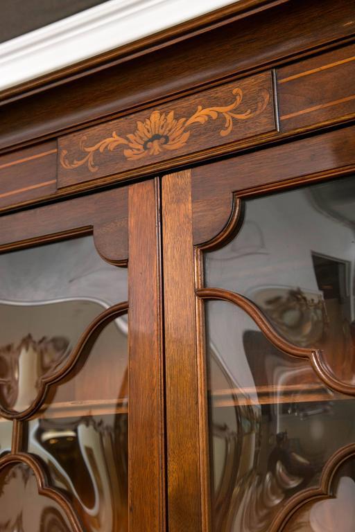 Georgian Style Saginaw Breakfront Bookcase Cabinet 2