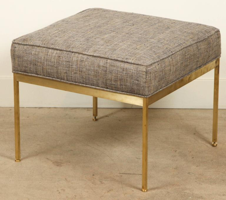 Square Brass Ottoman by Lawson-Fenning In Excellent Condition For Sale In Los Angeles, CA