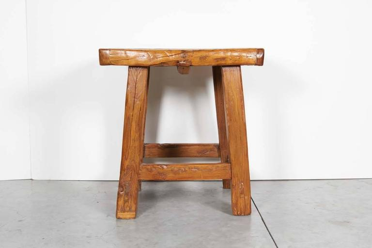 Chinese Large Rustic Stool/ Side Table For Sale
