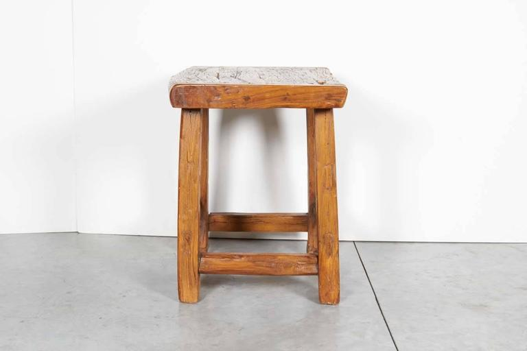 Large Rustic Stool/ Side Table In Good Condition For Sale In New York, NY