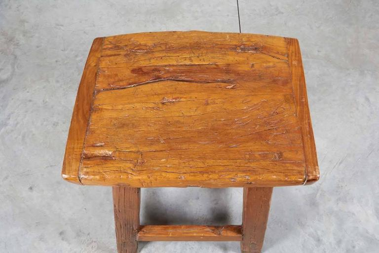 Large Rustic Stool/ Side Table For Sale 1